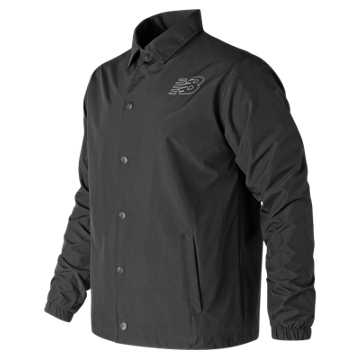 New Balance Classic Coaches Jacket, Black
