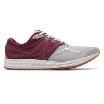 New Balance Fresh Foam Zante Sweatshirt, Burgundy with Light Grey