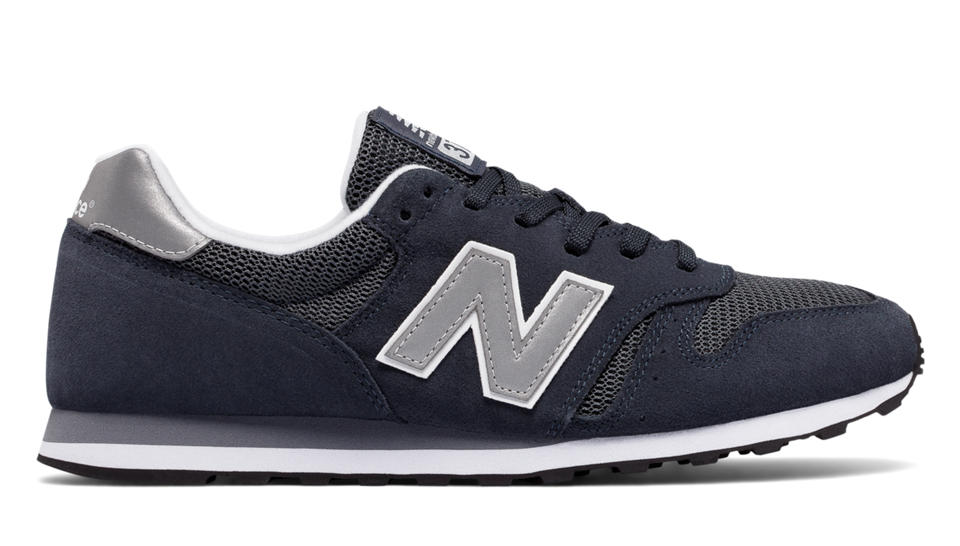 new balance 373 navy silver