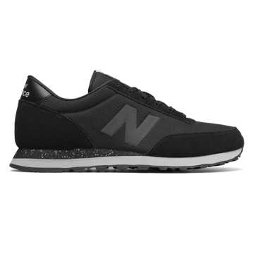 New Balance 501, Black with Silver Mink