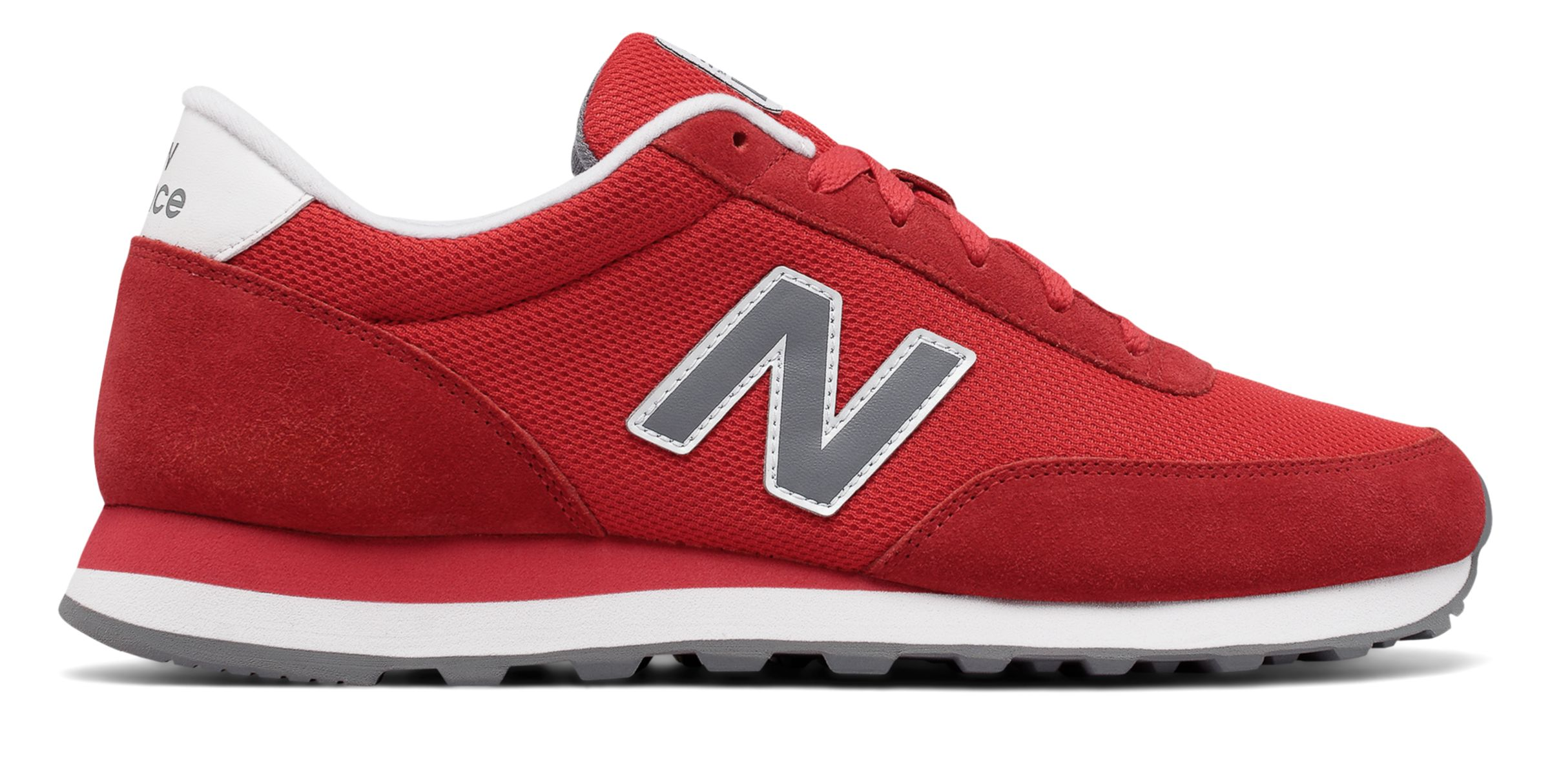 NB 501 Core, Red with Grey