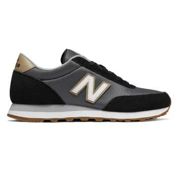 New Balance 501, Black with Castlerock