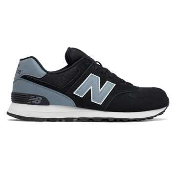 New Balance 574 Reflective, Black with Grey