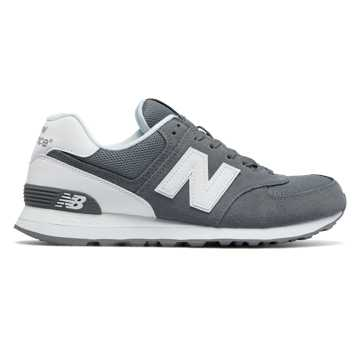 New Balance 574 Reflective, Grey with White