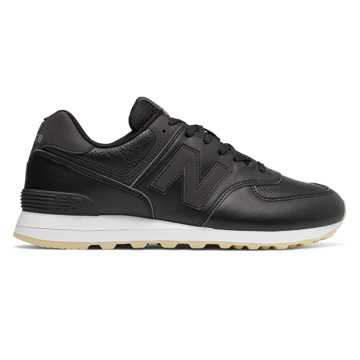 New Balance 574 Luxe Leather, Black