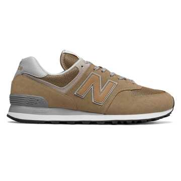 New Balance 574复古鞋 中性款 避震稳定 舒适透气, 褐色