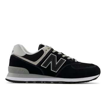 New Balance 574复古鞋 中性款 避震稳定 舒适透气, 黑色