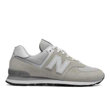 New Balance 574复古鞋 中性款 避震稳定 舒适透气, 云雾灰