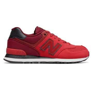 New Balance 574 New Balance, Red with Dark Red