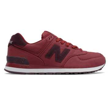 New Balance 574 Canvas, Biking Red
