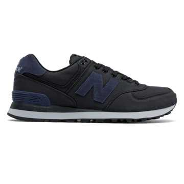 New Balance 574 Canvas, Black with Outer Space