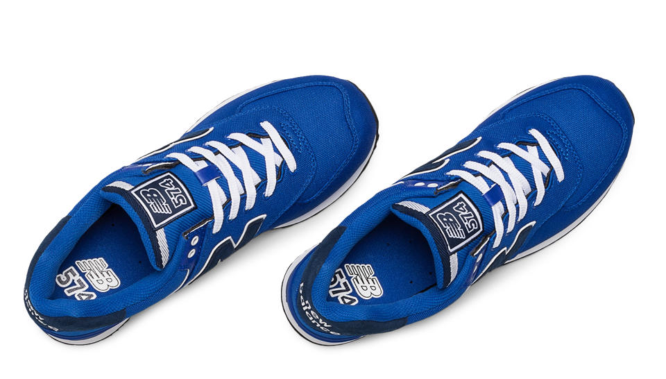 new balance homme ml574 bleu