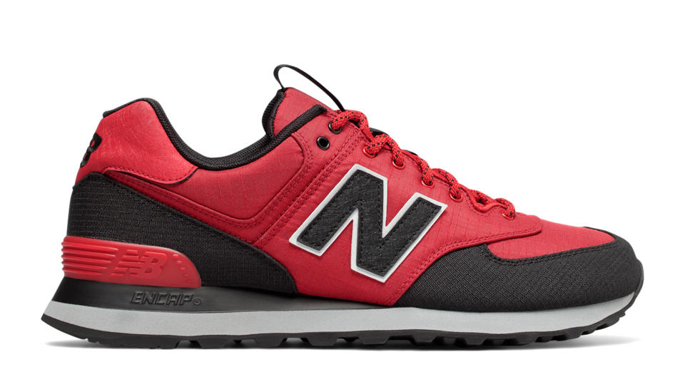 new balance black red