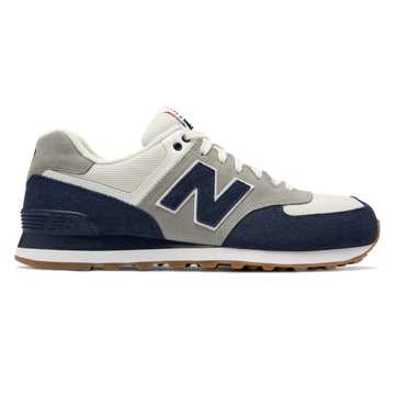 New Balance 574 Retro Sport, Navy with Silver Mink
