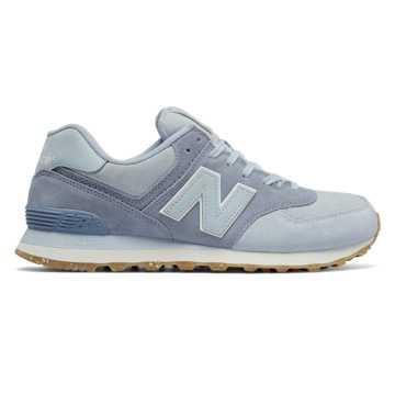 New Balance 574系列复古鞋, 灰色/蓝色
