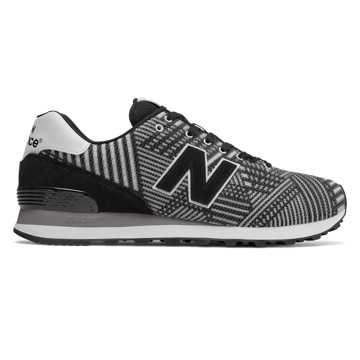 New Balance 574 Beaded, Grey with Black