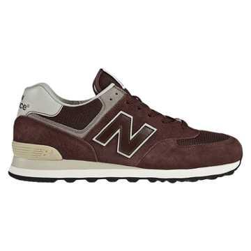 New Balance 574三原色复古鞋, 酒红色