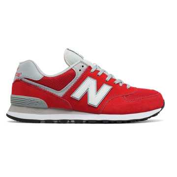 New Balance 574 Classic, Red with White
