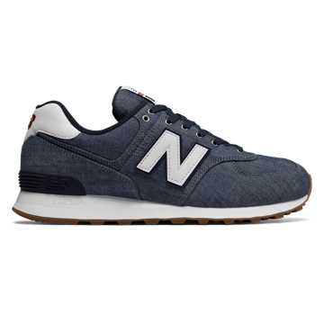 New Balance 574 Beach Chambray, Vintage Indigo with White