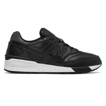 New Balance 597 Leather, Black