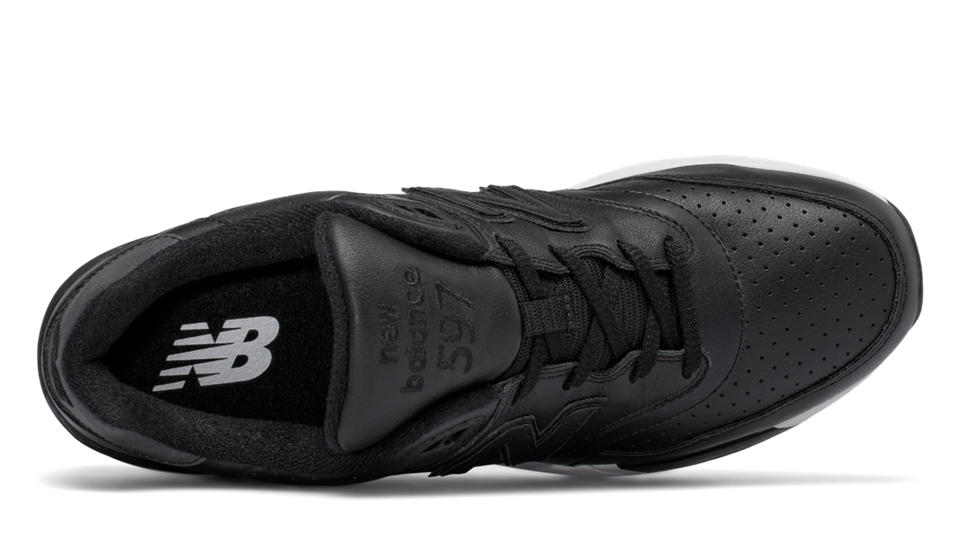 New Balance 597 Leather, Black