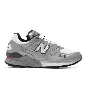 New Balance 878系列 中性款 经典复古 避震舒适, 银灰色