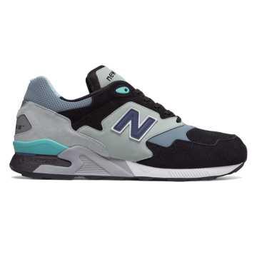New Balance 878复古鞋 中性款 避震稳定 复古时尚, 黑色/薄荷绿/浅蓝色