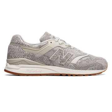 New Balance 997复古鞋 中性款 轻量舒适 经典休闲, 灰白色