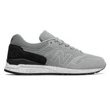 New Balance 997复古鞋 男款 轻量舒适 经典休闲, 灰色