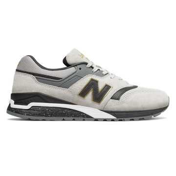 New Balance 997复古鞋 中性款 轻量舒适 经典休闲, 浅灰色