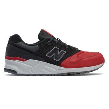 New Balance 999 Canvas Waxed, Black with Red