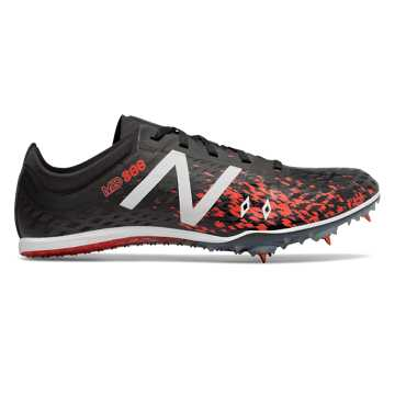 New Balance MD800v5 Spike, Black with Flame