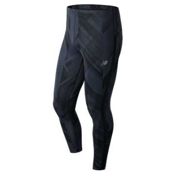 New Balance Accelerate Printed Tight, Black with Outerspace