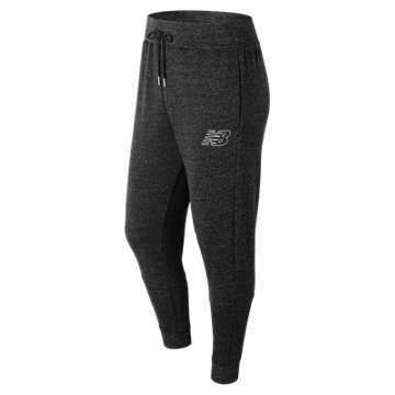 New Balance Heather Sweatpant, Black Heather