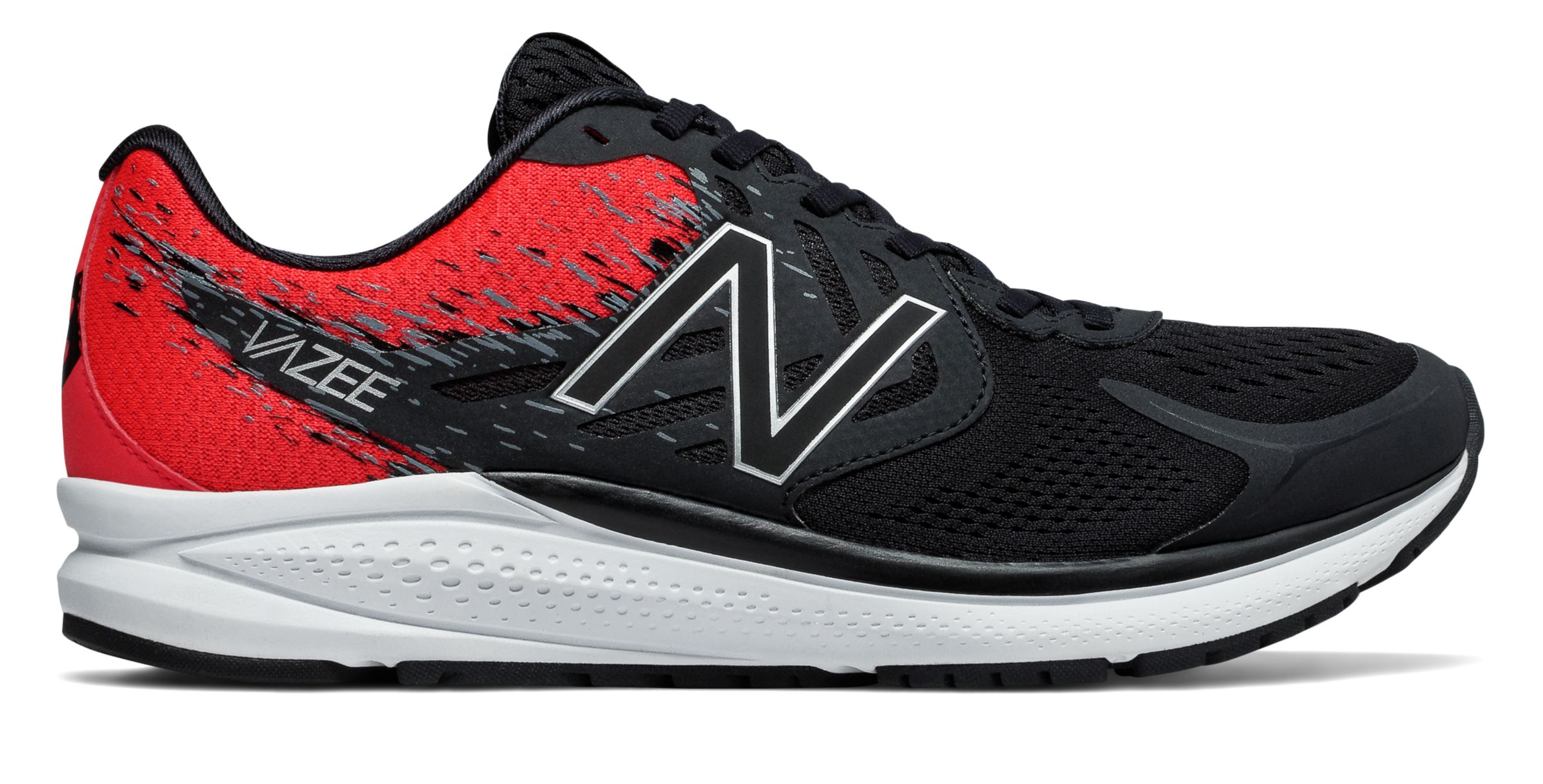 NB Vazee Prism v2, Black with Energy Red & White