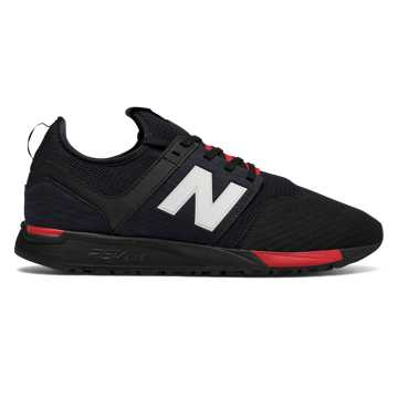 New Balance 247 Classic, Black with Red