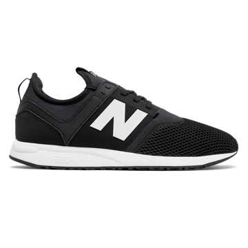 New Balance 247 Classic, Black with Dark Grey