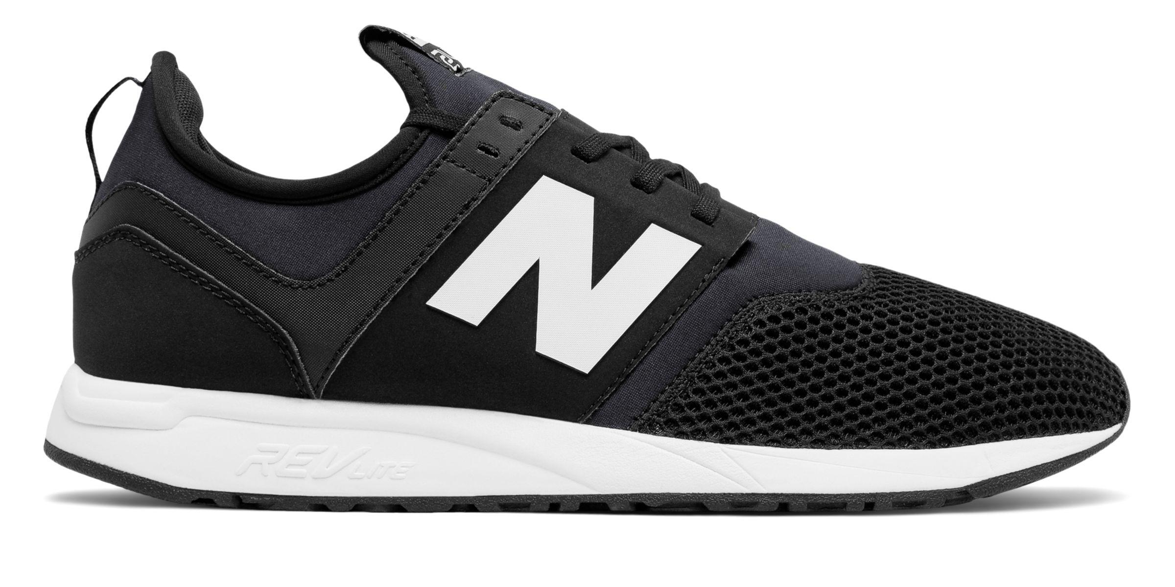 NB 247 Classic, Black with Dark Grey