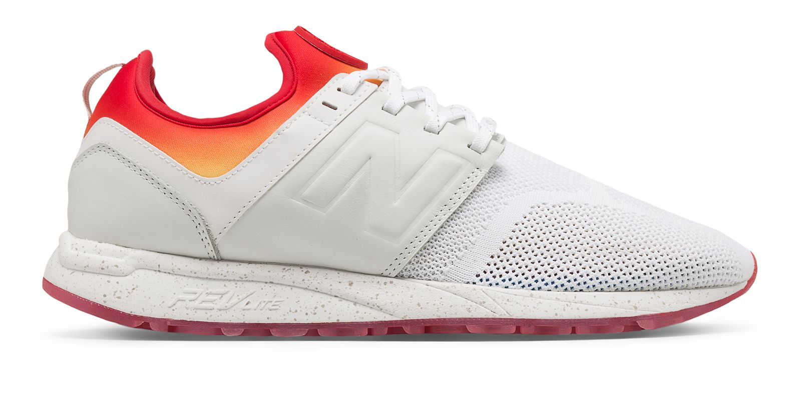 NB New Balance x Stance 247, White with Red