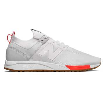 New Balance 247 Tournament, White with Flame