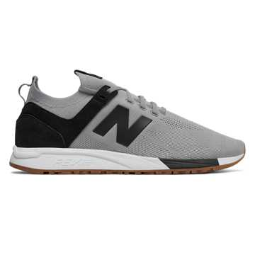 New Balance 247 Engineered Mesh, Steel with Black