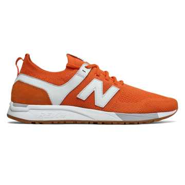 New Balance 247 Engineered Mesh, Orange with White