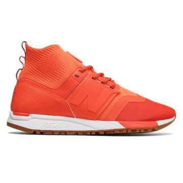 New Balance 247 Mid-Cut 中性款 轻量舒适 摩登时尚, 橙红色