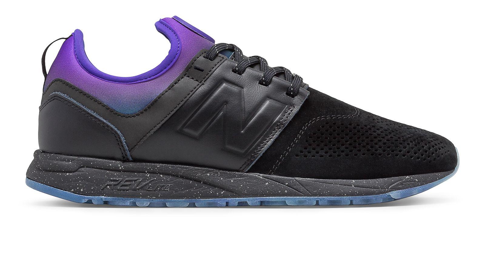 NB New Balance x Stance 247, Black with Purple