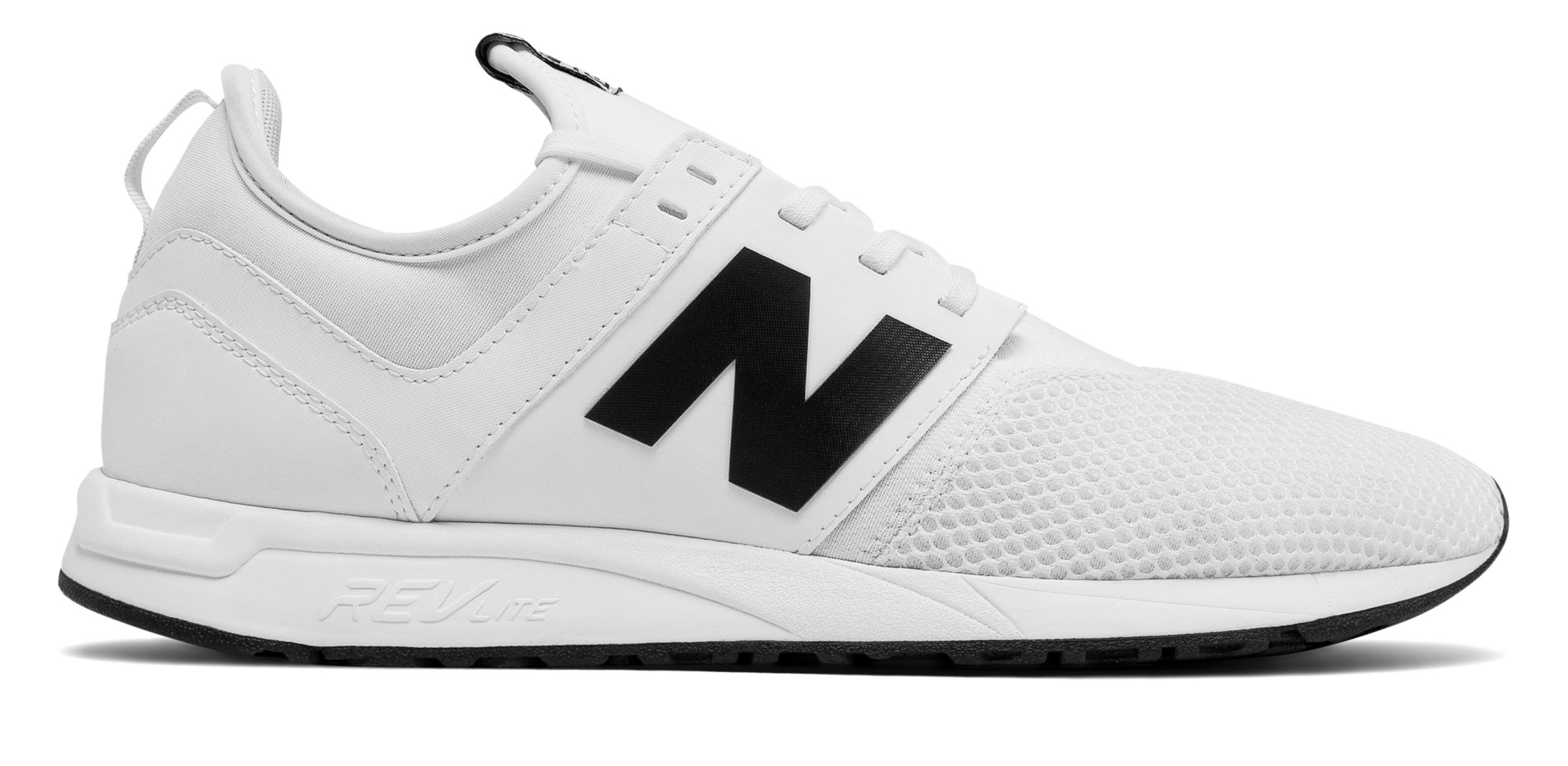 NB 247 Classic, White with Black