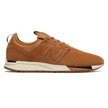 New Balance 247 Luxe, Tan with White & Black