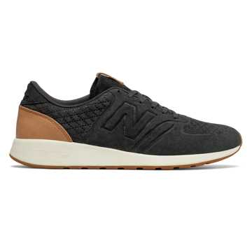 New Balance 420 Deconstructed, Black with Tan