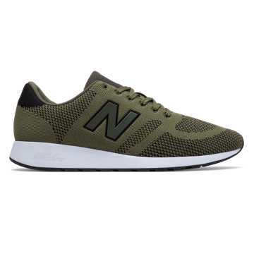 New Balance 420 Engineered Knit, Olive with Black