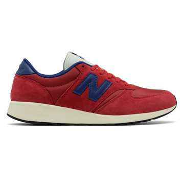 New Balance 420 Re-Engineered Suede, Red with Blue