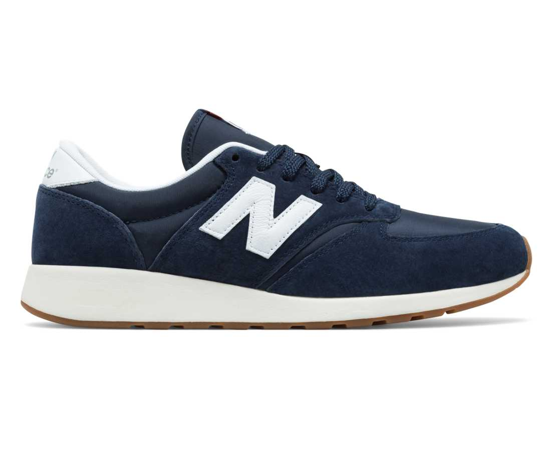 NB 420 Re-Engineered Suede, Navy with White